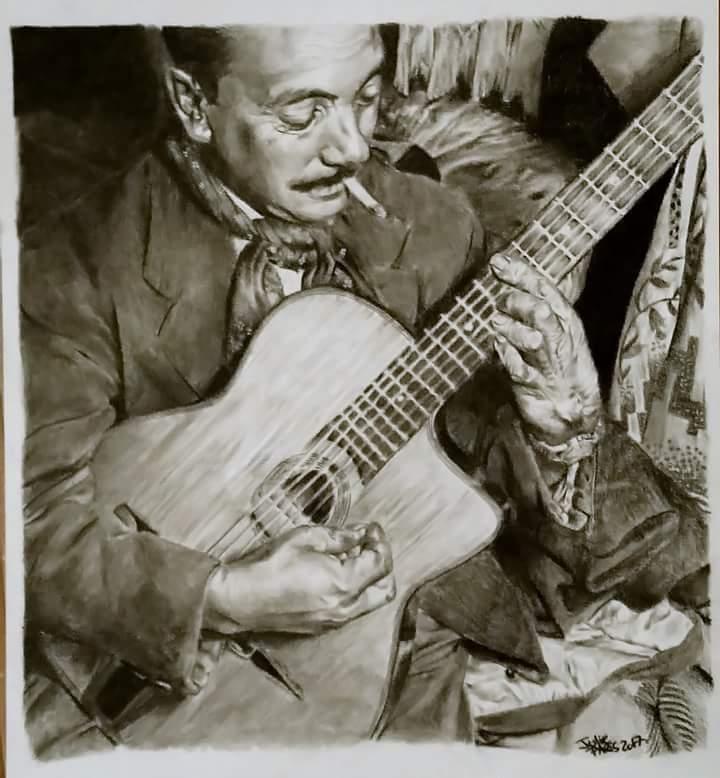 Django Reinhardt by sanaelle